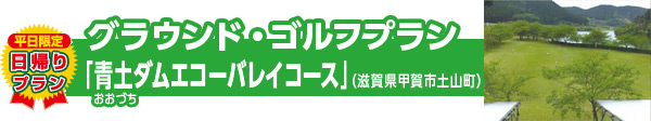 平日限定 日帰りプラン グラウンド・ゴルフプラン 「青土ダムエコーバレイコース」(滋賀県甲賀市土山町)